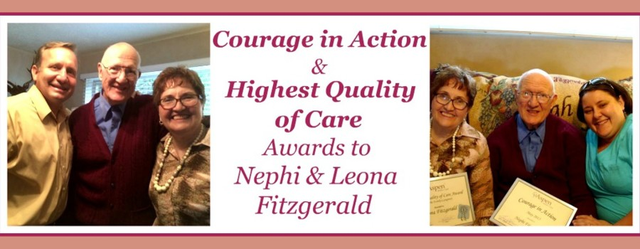 Our Newest Courage in Action Award and Highest Quality of Care Award are in the Same Family!
