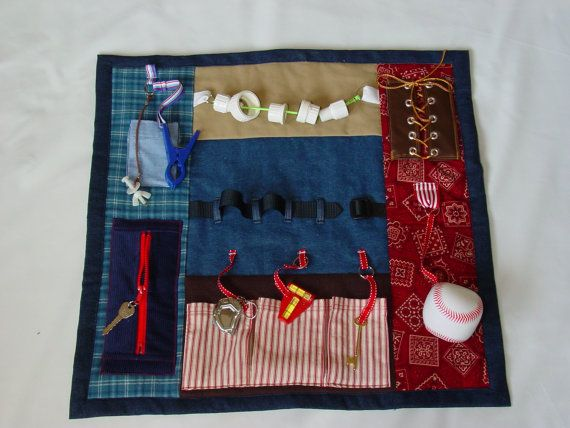Having A Fidget Blanket With Activities On It Can Be Soothing And Provide An Outlet For Anxiety Creating Individuals Specific Hobbies